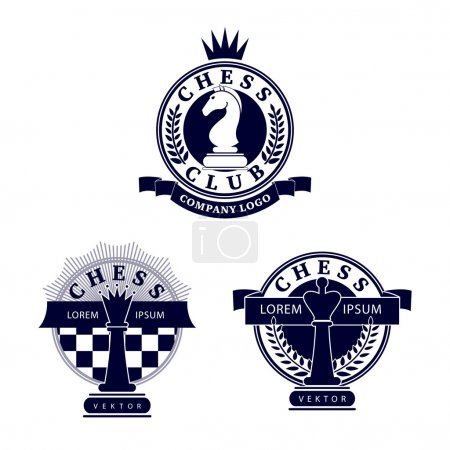 A set of logos with chess symbols