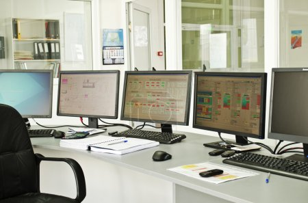 Photo for Control center of a small power plant - Royalty Free Image