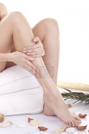 Beautiful hands and feet. Manicure and pedicure.