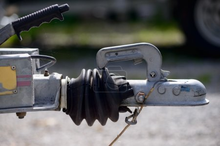 close-up trailer hook