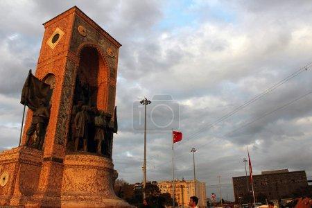 Cumhuriyet Aniti Taksim Square Istanbul (Monument of Republic)