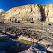 Carboniferous limestone cliffs of Southerndown Bea...