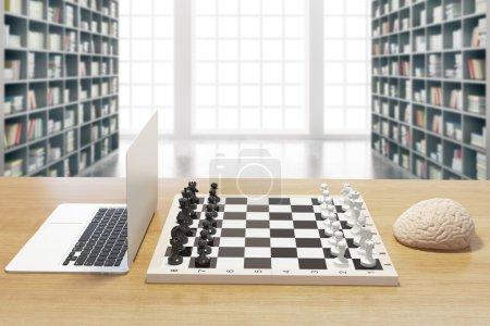 Computer vs brain library
