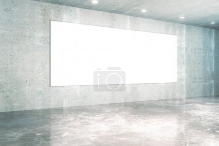 White board concrete interior