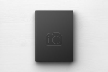Photo for Black book cover, mock up - Royalty Free Image