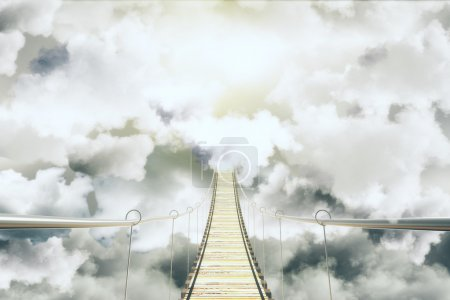 Photo for Bridge among the clouds concept - Royalty Free Image