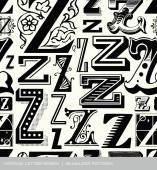 Seamless vintage pattern of the letter z