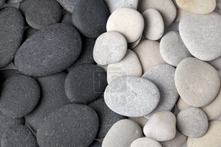 Black and white stones background...