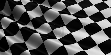 Finish checkered flag.