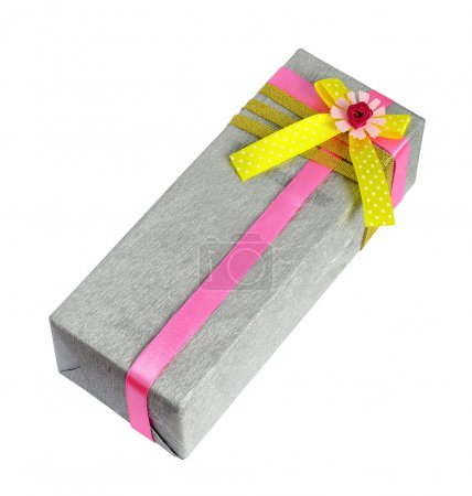 Packing in a gray holiday wrap