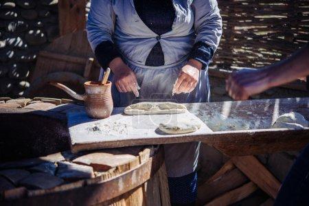Making of Georgian bread