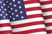 Vítr protřepat vlajka Usa