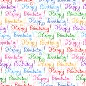 Seamless background for Birthday