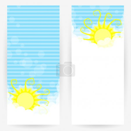 Backgrounds with clouds and sun