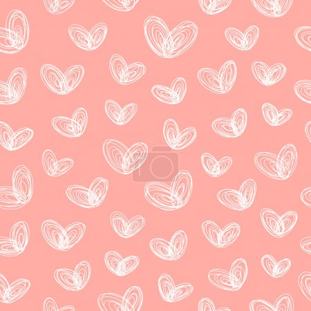 Seamless pattern with hearts-butterflies