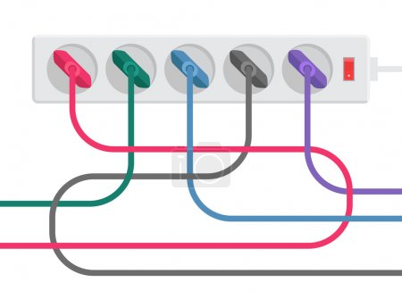 Power strip and cables