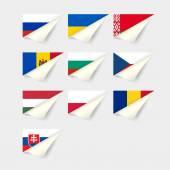 European flags Eastern Europe