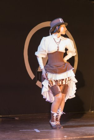 Girl on the stage during the festival cosplay costume of wild we