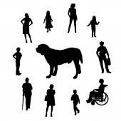 Silhouette of people.