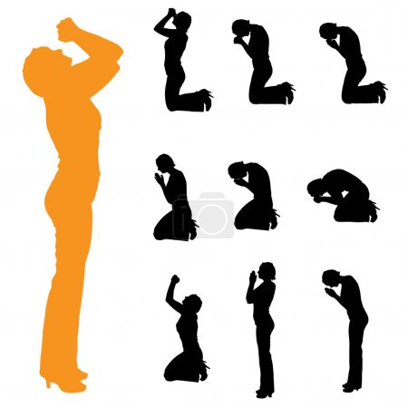 Silhouette of a women