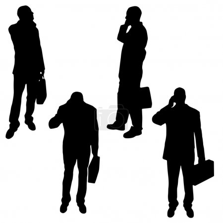 Silhouette of a businessmen