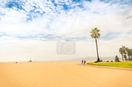 Venice Beach in a bright sunny day - World famous place near Santa Monica - Atlantic seaside in Los Angeles territory