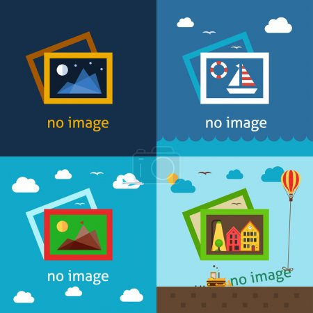 No image creative vector illustrations