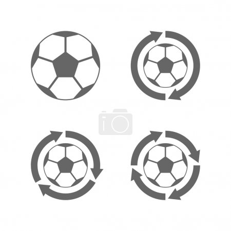 Soccer ball icon with arrows