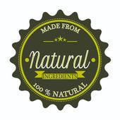 Vyrobený z přírodních ingrediencí razítko