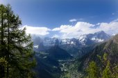 Mont Blanc and the valley of Courmayeur