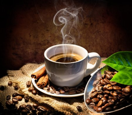 Photo for Aroma And Taste In Traditional Coffee Cup - Royalty Free Image