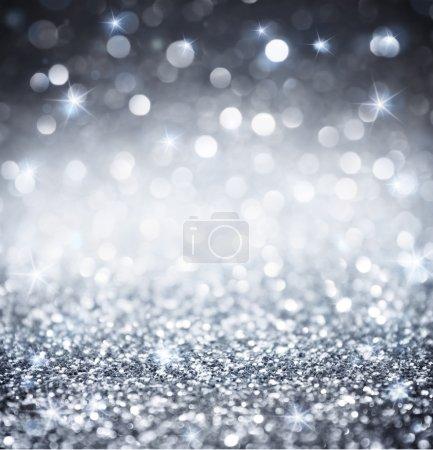 Foto de Glitter Plata - fondos de pantalla brillantes para la Navidad - Imagen libre de derechos