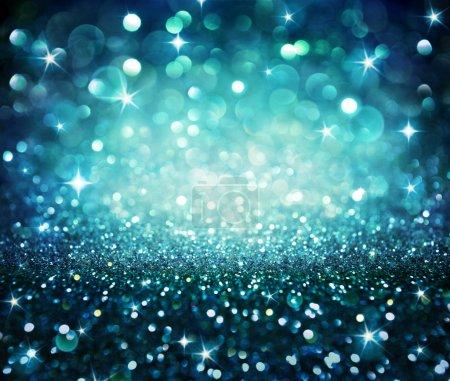 Christmas background - shining glitter - blue