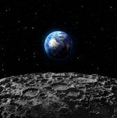 Views of Earth from the moon surface - Europe