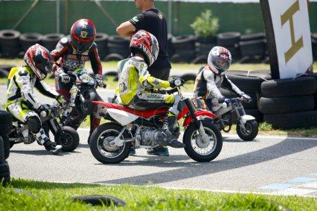 Motocross children bikers