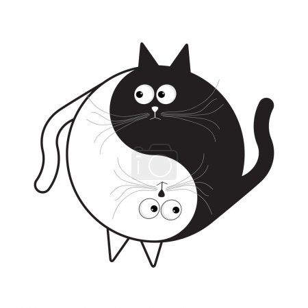 Yin Yang  cartoon cat