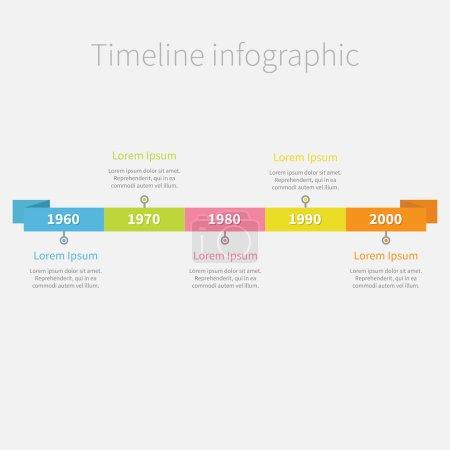 Illustration pour Montage infographique ruban avec texte. modèle. design plat. illustration vectorielle - image libre de droit