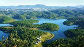 Fantastické krajiny, eco jezero, Vietnam cestování