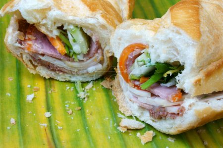 Vietnamese food, banh mi thit nguoi- is famous, po...