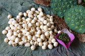 Sammlung-Lotusblüte, Samen, Tee, gesunde Ernährung