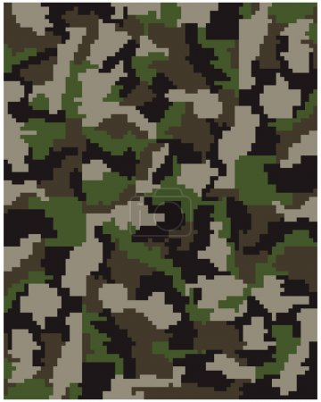Seamless digital  camouflage