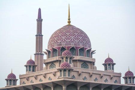 Close up view of Putrajaya Mosque