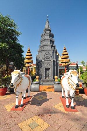 Detail of Wat Preah Prohm Rath, Cambodia