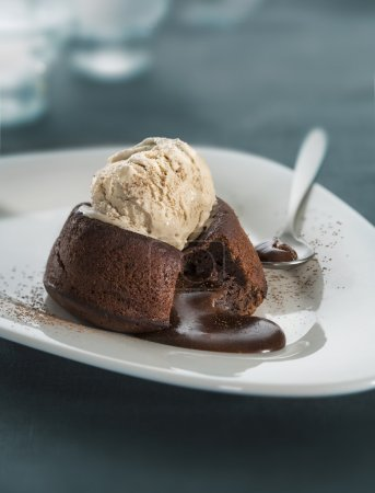 Pastel de chocolate fondant lava