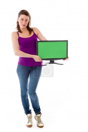 Model holding blank screen