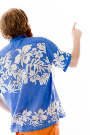 model back pointing