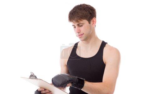 Model writing in blank score board