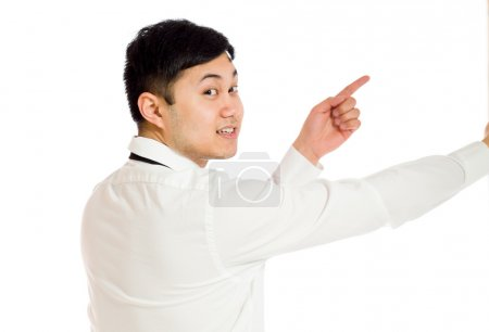 Model pointing  with both fingers