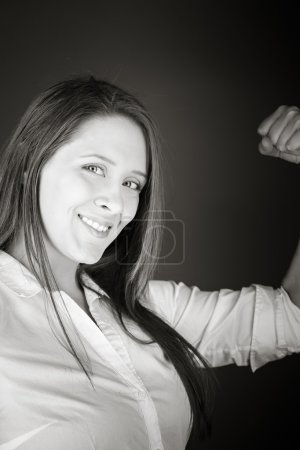 Strong model with arm curl