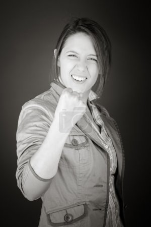 Model showing a fist